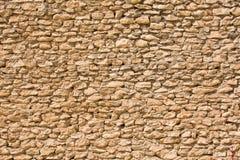 Parede feita de pedras pequenas Fotos de Stock Royalty Free