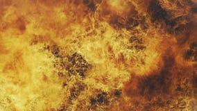 Parede flamejante do fogo do inferno filme