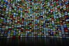 Parede gigante dos multimédios Imagens de Stock