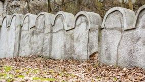 Parede judaica do gueto, Krakow, Polônia imagens de stock