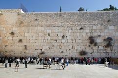 Parede lamentando de Jerusalem Foto de Stock