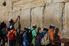 Parede lamentando em Jerusalem Imagem de Stock