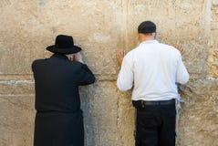 Parede lamentando em Jerusalem Fotografia de Stock Royalty Free
