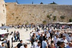Parede lamentando em Jerusalem Imagem de Stock Royalty Free