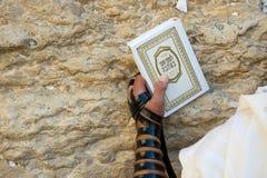 Parede lamentando em Jerusalem Fotos de Stock Royalty Free