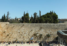 A parede lamentando, Jerusalém - Israel Fotos de Stock