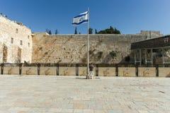 A parede lamentando, Jerusalém - Israel Fotos de Stock Royalty Free