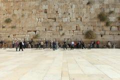 A parede lamentando, Jerusalém - Israel Imagem de Stock Royalty Free