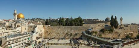 A parede lamentando, Jerusalém - Israel Fotografia de Stock