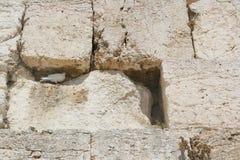 A parede lamentando, Jerusalem foto de stock