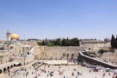 A parede lamentando, Jerusalem, Israel Imagem de Stock Royalty Free