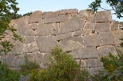 Parede megalítica Fotografia de Stock