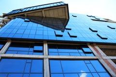 Parede moderna das janelas do escritório Fotos de Stock