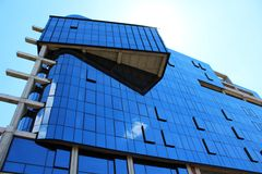 Parede moderna das janelas do escritório Imagens de Stock Royalty Free