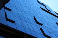 Parede moderna das janelas do escritório Imagem de Stock