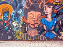 Parede mural Imagens de Stock Royalty Free
