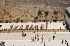 Parede ocidental da vista, Jerusalem, Israel Imagens de Stock Royalty Free