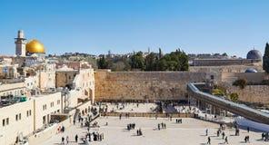 A parede ocidental em Jerusalem Fotografia de Stock Royalty Free