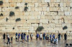 Parede ocidental em Jerusalem Fotos de Stock Royalty Free