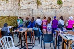 A parede ocidental, Jerusalem Fotos de Stock Royalty Free