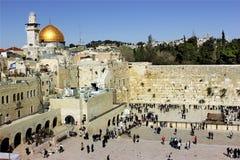 A parede ocidental lamentando em Jerusalem Fotografia de Stock Royalty Free