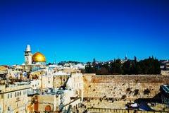 A parede ocidental no Jerusalém, Israel Fotos de Stock Royalty Free