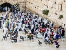 Parede ocidental no Jerusalém, Israel Fotografia de Stock
