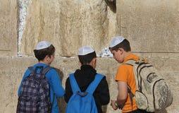 Parede ocidental (parede lamentando) Jerusalem Fotografia de Stock Royalty Free