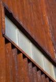 Parede ondulada do metal de um ângulo Imagem de Stock
