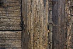 Parede oxidada de madeira velha Fotos de Stock Royalty Free