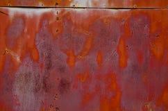 Parede oxidada do estanho. Imagens de Stock Royalty Free