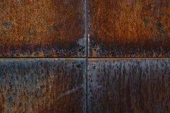 Parede oxidada do metal fotografia de stock