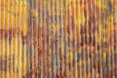 Parede oxidada velha do metal Foto de Stock
