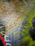 Parede pintada Fotografia de Stock