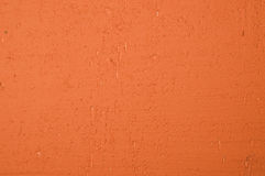 Parede pintada alaranjada vibrante Foto de Stock Royalty Free