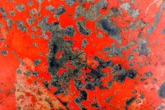 Parede pintada bege oxidada do metal fotografia de stock