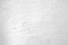 Parede pintada branco com marcas de escova Fotos de Stock Royalty Free