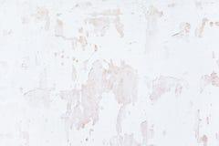 Parede pintada branco do fundo do Grunge Fotos de Stock Royalty Free
