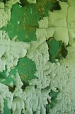 Parede pintada rachada verde imagens de stock