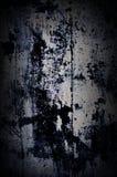 A parede pintada velha escura do grunge dramático com branco e preto espirra Foto de Stock Royalty Free