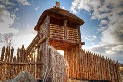 Parede polonesa velha da vila Imagens de Stock