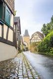 Parede prussiano tradicional na arquitetura em Alemanha Imagem de Stock