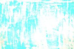 Parede rachada danificada velha da pintura, fundo do Grunge, cor de turquesa fotos de stock