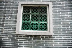 Parede recessed retângulo do teste padrão com tijolos dados forma incomuns fotografia de stock