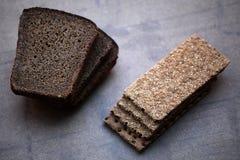 Parede sharped secada natural do pão preto Imagens de Stock