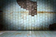 Parede suja velha de pedra da telha do risco Fotos de Stock Royalty Free