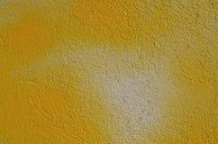 Parede textured amarelo Imagem de Stock