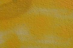 Parede textured amarelo Fotografia de Stock Royalty Free