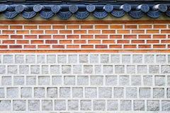 Parede tradicional coreana Imagem de Stock Royalty Free