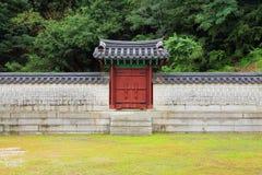 Parede tradicional da arquitetura de Coreia fotografia de stock